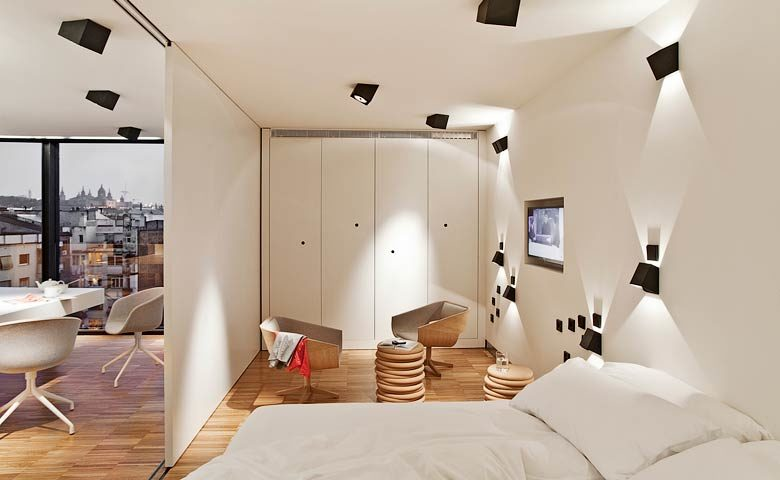 Urgell Apartment — Sleeping area