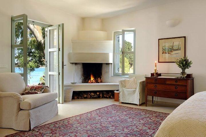 Greek Island Retreat — Master bedroom suite
