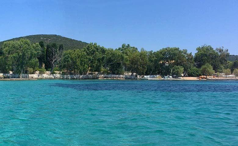 Greek Island Retreat — View from the ocean