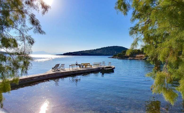 Greek Island Retreat — The pier
