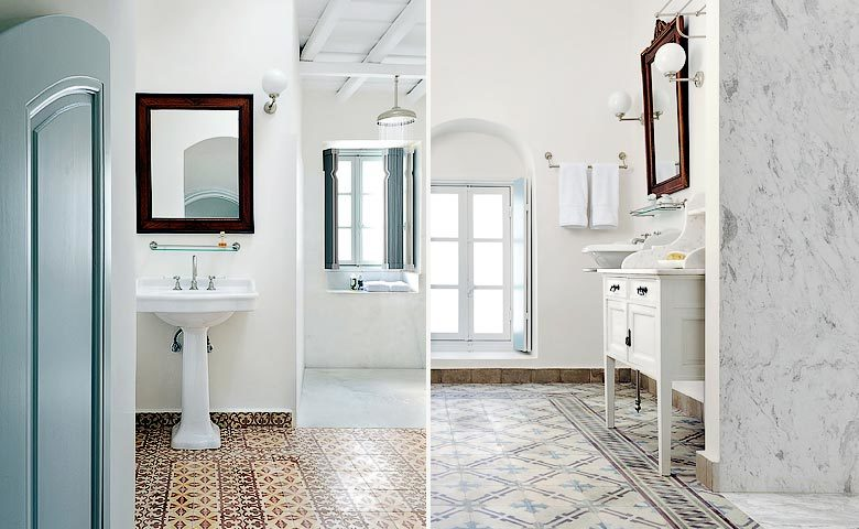 Greek Island Retreat — Bathrooms
