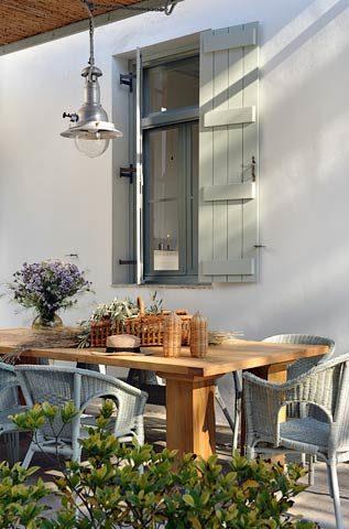 Greek Island Retreat — Outside dining