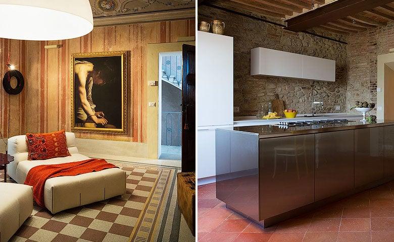 Mazzini 31 — Library and kitchen