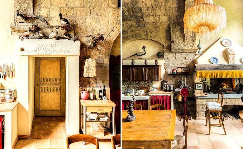 Corte della Maestà — Kitchen and dining area
