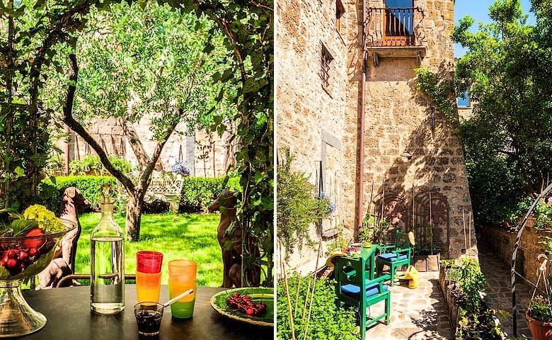 Corte della Maestà — Garden and terrace