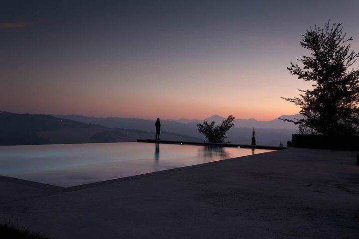 Borgo Tranquillo — Infinity Pool at night