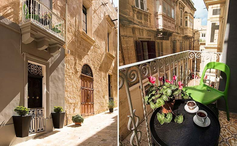 Valletta Vintage — The Hideout entrance and balcony