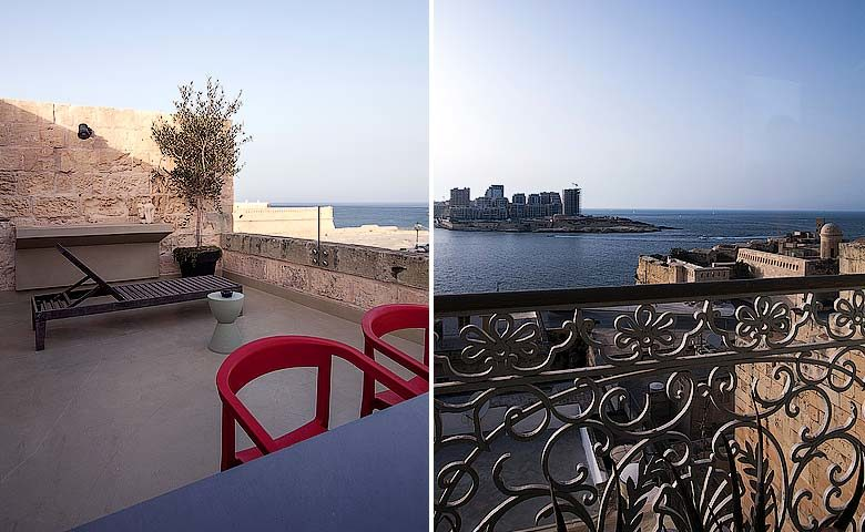 Valletta Vintage — Roof terrace views of Valletta