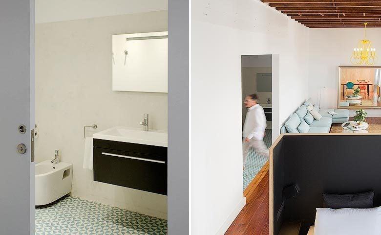 The Loft Las Palmas — Bathroom and living area