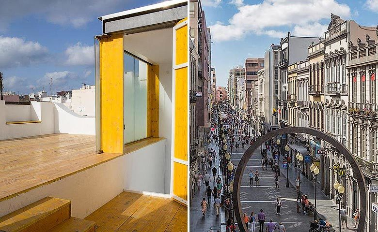 The Loft Las Palmas — Roof terrace and Las Palmas