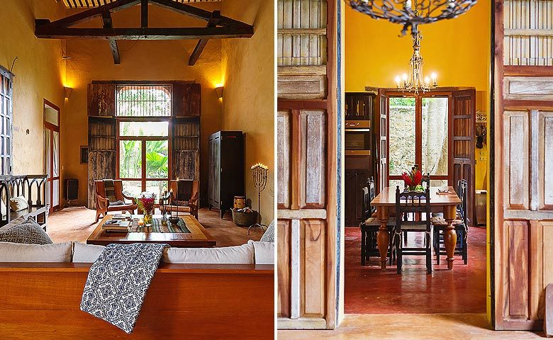 Hacienda Sac Chich — Living area and kitchen