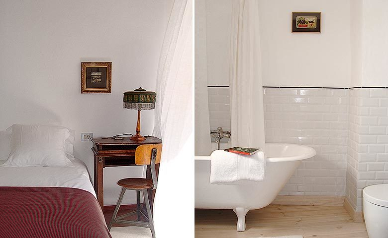 Ses Sucreres — Bedroom and bathroom