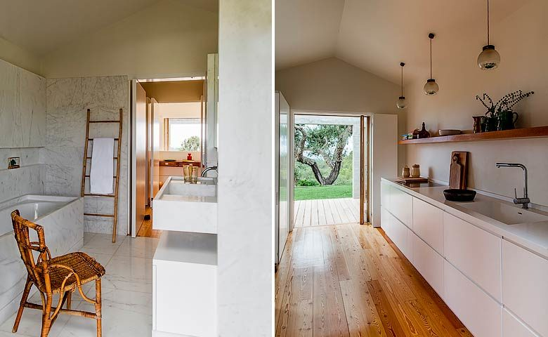 Les Terrasses de Comporta — Bathroom and kitchen