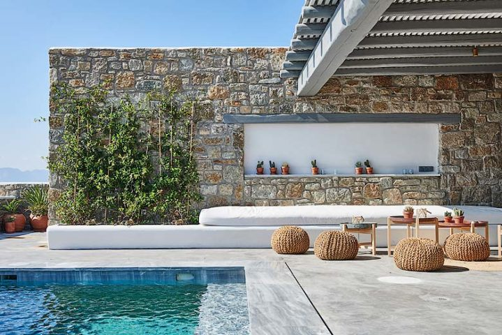 Mykonos Villa — Pool lounge area