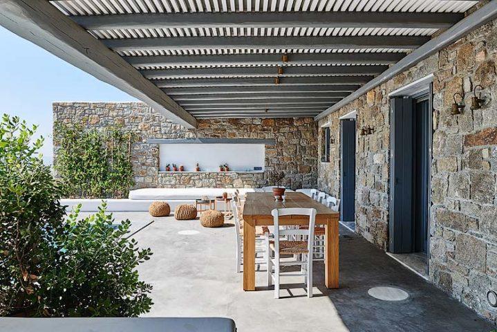Mykonos Villa — Outside dining
