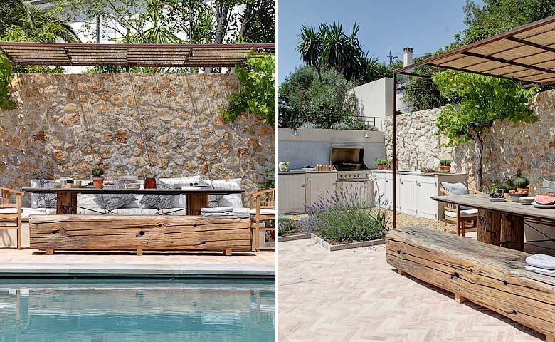 Villa d'Antibes — Outside kitchen & dining are