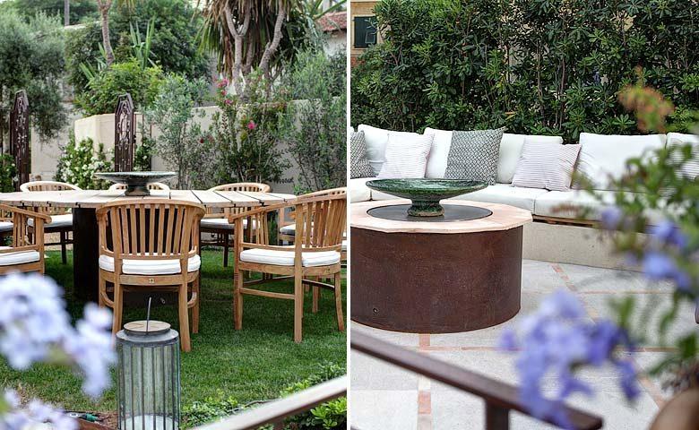 Villa d'Antibes — Dining areas in the garden