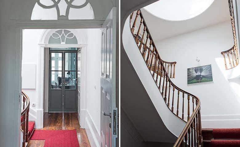 A Bela Aurora — Central staircase