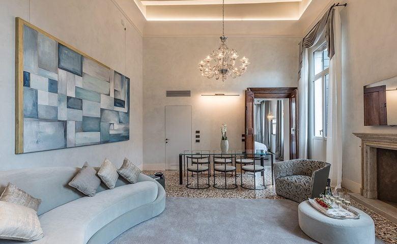 Palazzo Morosini — Anice lounge and dining area